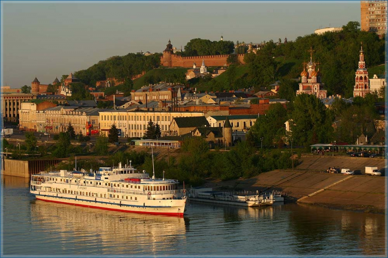 Nizhny Novgorod and boat view